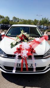 Dessus de voiture de mariage